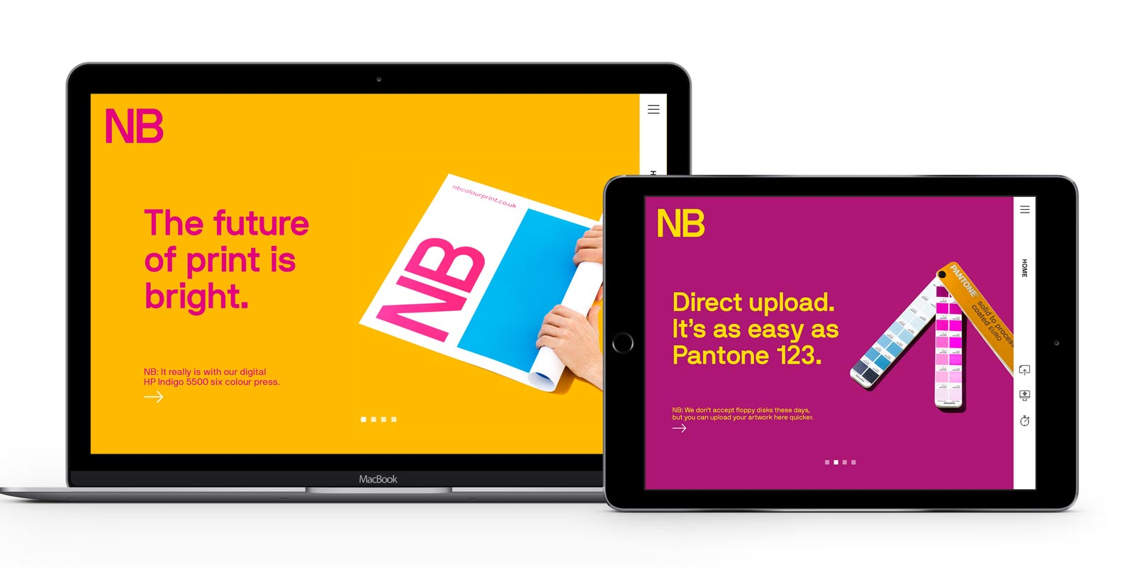 NB Colour Print - Professional Service Website Case Study
