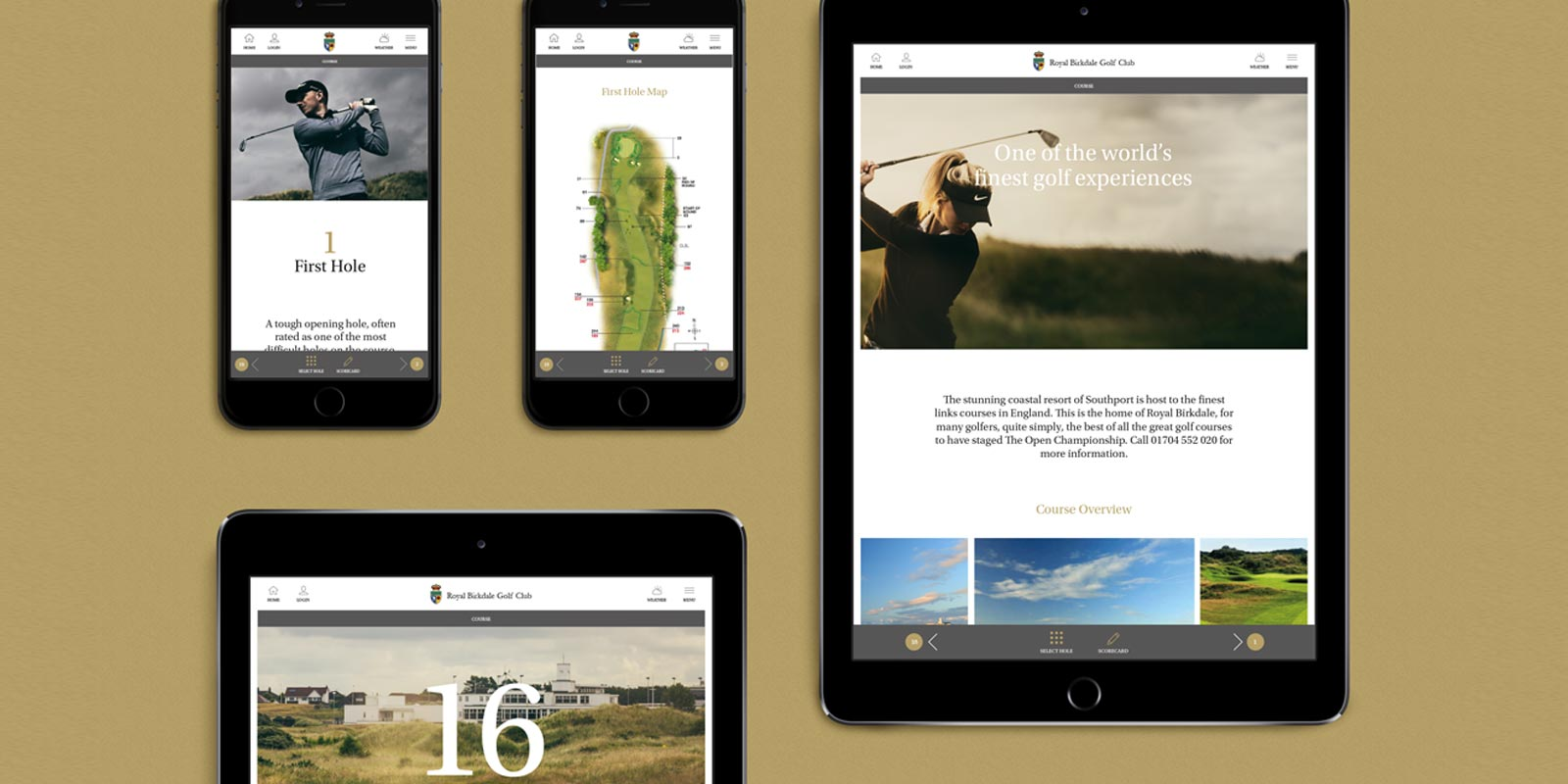 Royal Birkdale Golf Club - Sport Website Case Study