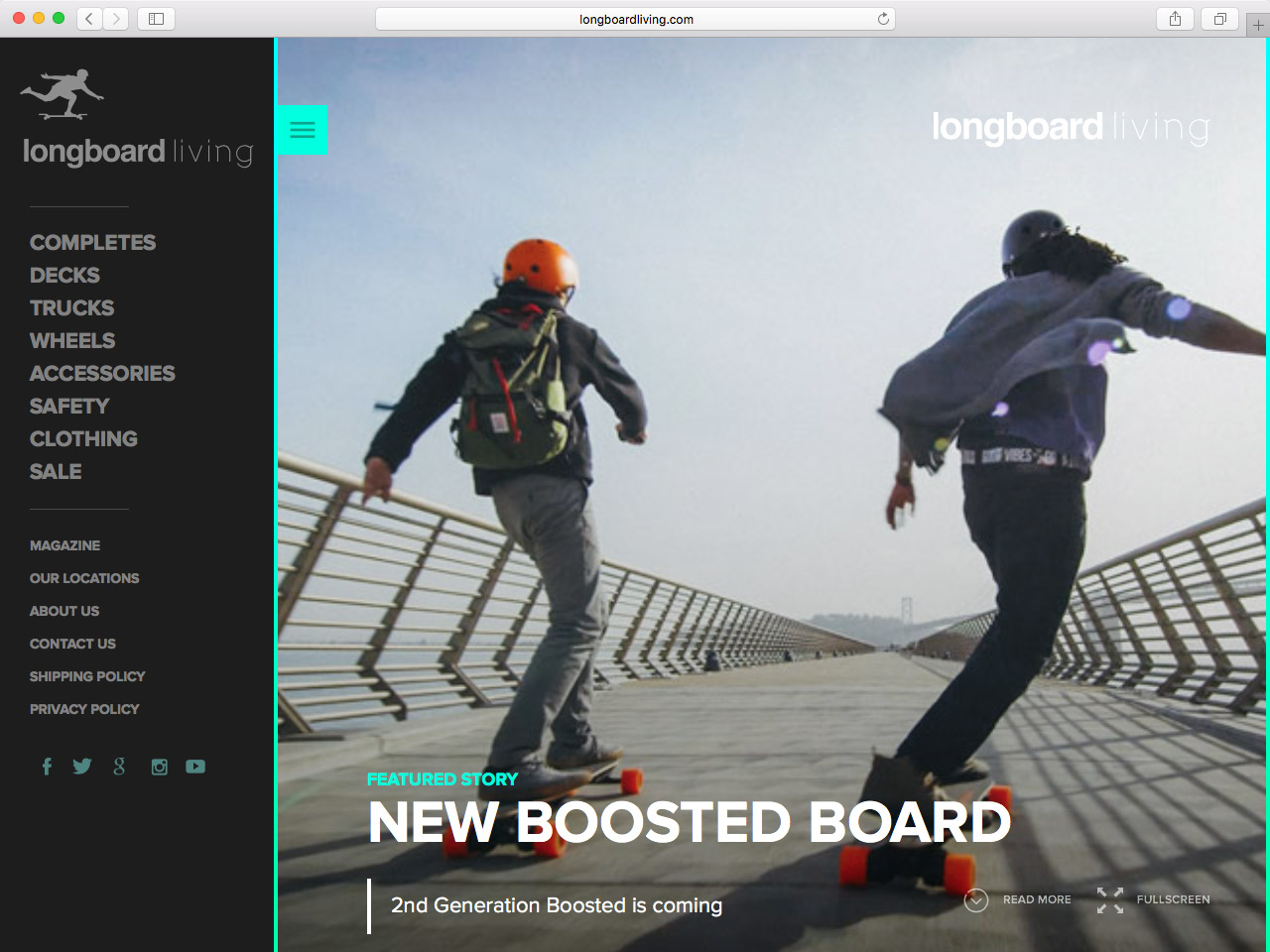 A real-world example of a vertical list on Longboard Living's website